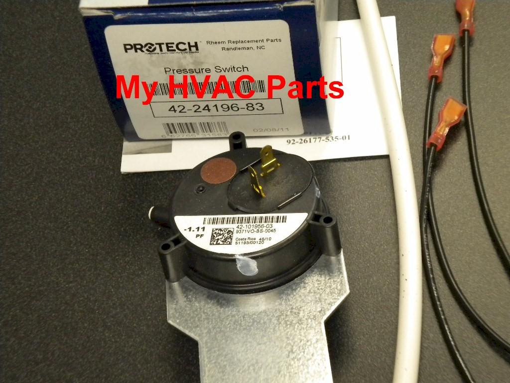 42 24196 83 Rheem Ruud Pressure Switch Kit15815 Trane Xv80 2 Stagevariable Speed Gas Furnace