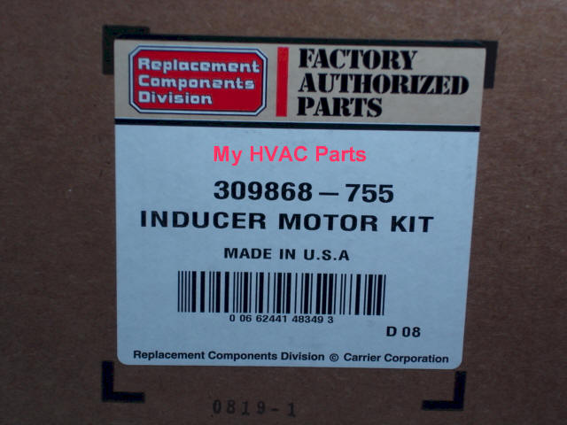 carrie2 309868755 carrier bryant furnace draft inducer kit  at reclaimingppi.co