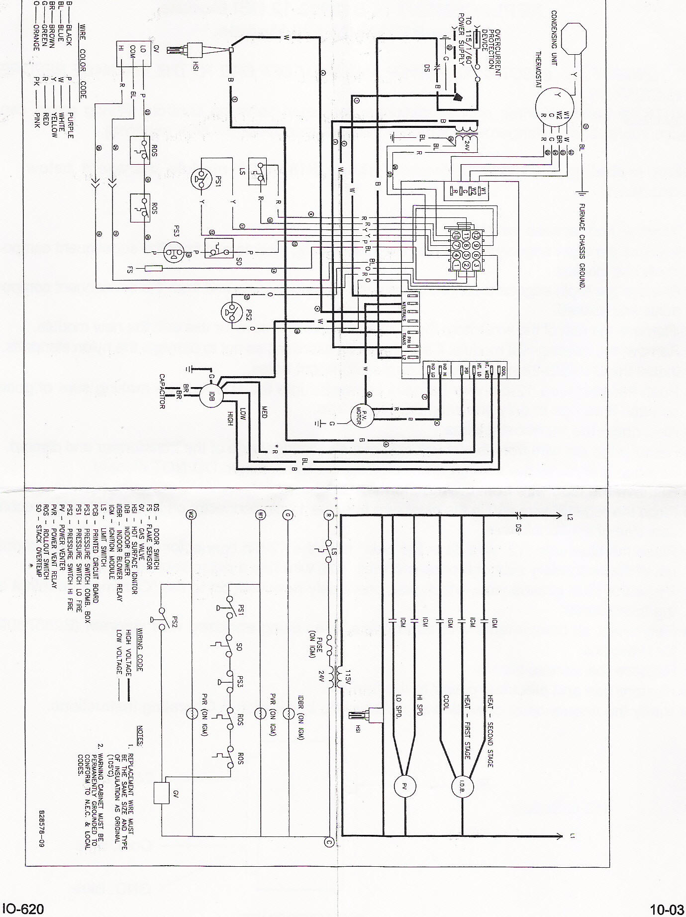 Colemen 7 Wire Thermostat Wiring Diagram Coleman Air Handler Evcon