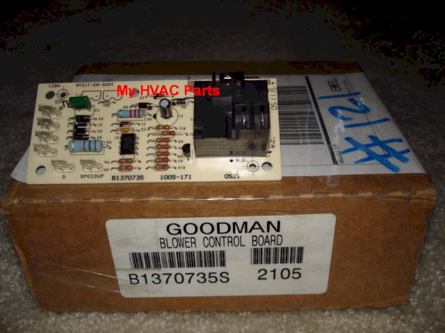 Pcbfm131s goodman janitrol air handler time delay for Air handler blower motor relay