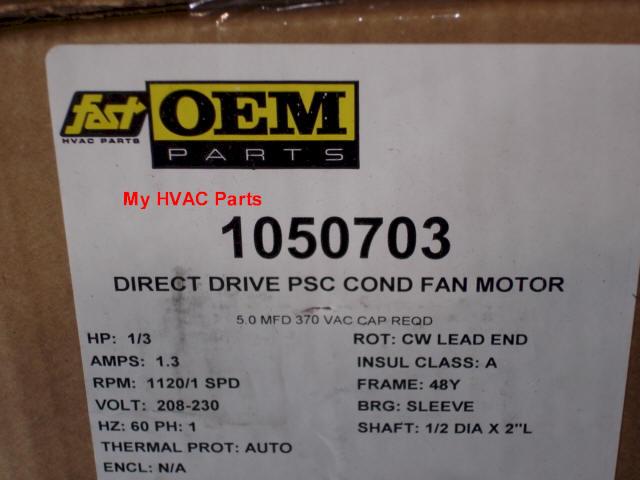 1050703 Icp 1  3 H P  Condenser Fan Motor