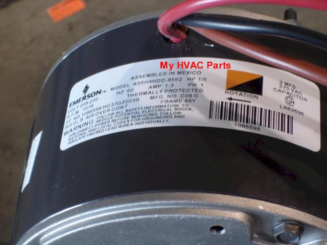 1086598 Icp 1  5 H P  Condenser Fan Motor