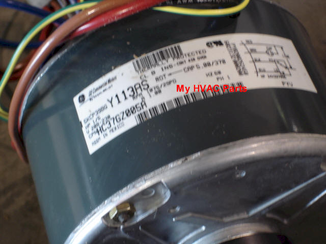 Icp 1 34 1172508 tempstar 1 5 h p heat pump condenser fan motor on ac condenser fan motor run capacitor wiring diagram to dayton