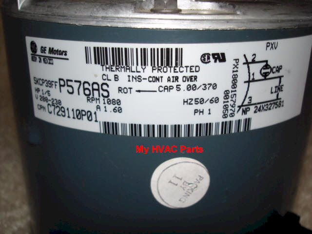 moto4104 mot04104 trane am std 1 5th hp condenser fan motor