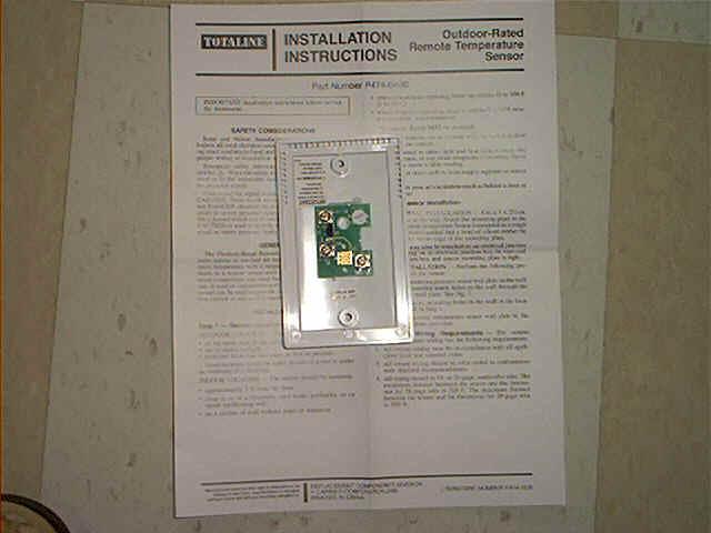 remote sensor totaline thermostat wiring diagram p474 totaline thermostat wiring