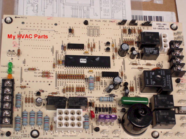 rheem 62 102635 81 kit 2 62 102635 81 rheem ruud 80% (2) stage heat control board Basic Electrical Wiring Diagrams at crackthecode.co