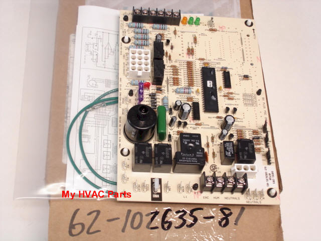 rheem 62 102635 81 kit closeup 62 102635 81 rheem ruud 80% (2) stage heat control board Basic Electrical Wiring Diagrams at couponss.co
