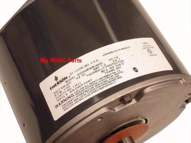 S1-02426020700 York 1/4 HP. cond fan motor S89-198 on